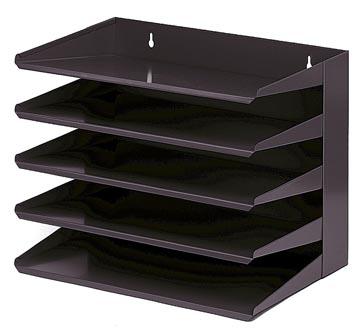 Trieur : 5 compartiments, noir