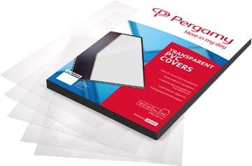 Pergamy couvertures en PVC, transparent, ft A4, 150 microns , paquet de 100 pièces