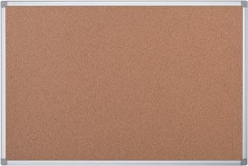 Pergamy tableau en liège avec cadre en aluminium, ft 90 x 60 cm