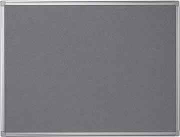 Pergamy tableau de textile avec cadre en aluminium ft 60 x 90 cm, gris