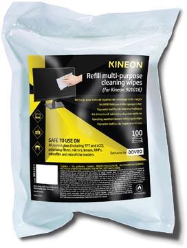 Kineon lingettes multi-usage, recharge de 100 lingettes