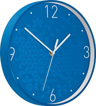 Leitz WOW Horloge murales, bleu