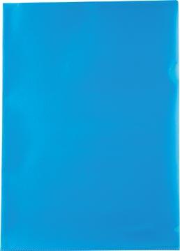 Pergamy pochette coin, ft A4, PP de 120 micron, paquet de 25 pièces, bleu