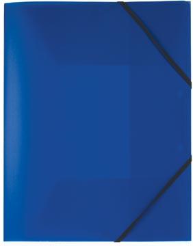 Pergamy chemise à rabats et élastiques bleu