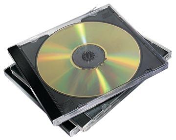 Fellowes Boîtier CD/DVD Jewel Case, 10 pièces