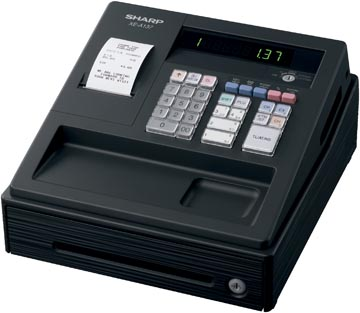 Sharp caisse enregistreuse thermique XE-A137BK, noir
