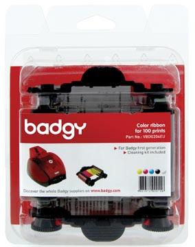 Badgy ruban couleur pour Badgy1, 100 impressions