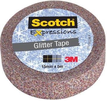 Scotch Expressions ruban pailleté, 15 mm x 5 m, multicoloré