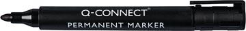 Q-Connect marqueur permanent, pointe ronde, noir