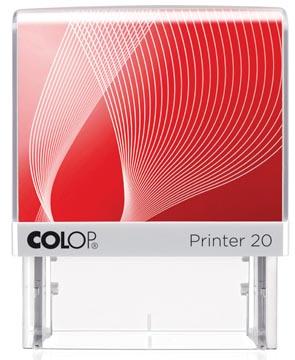Colop cachet avec système voucher Printer Printer 20, 4 lignes max., ft 38 x 14 mm