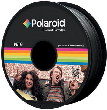 Polaroid 3D Universal PETG Filament, 1 kg, noir