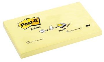 Post-it Z-Notes, ft 76 x 127 mm, jaune, bloc de 100 feuilles