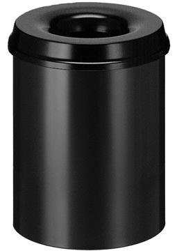 V-part poubelle anti-feu, 15 l, noir