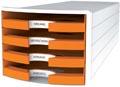 Han blac à tiroirs Impuls, tiroirs ouverts, Trend Colour orange