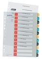 Leitz Cosy intercalaires, ft A4, perforation 11 trous, PP, couleurs assorties, set 1-12