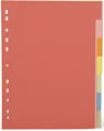 Pergamy intercalaires ft A4, perforation 11 trous, carton extra solide, couleurs assorties, 7 onglets